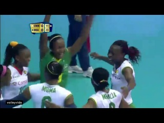 0:02 / 0:43 2014-09-24 - FIVB World Championships - Cameroon - Brazil - Gabi football save