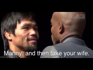 Pacquiao Talking Trash to Bradley - PAC BRADLEY 2 - II FACE OFF